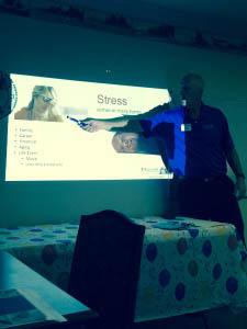 Mark with Stress Management slides