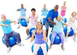 Group of Seniors Exercising