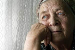 Sad Looking Senior