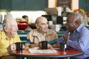 Senior men Talking