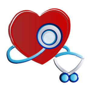 Graphic of a heart and stethoscope