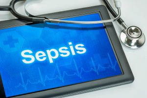 Tablet That Says Sepsis on it