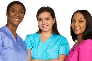 medical team of diverse women