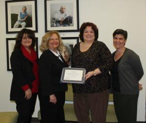 Springwell grant certificate presentation.