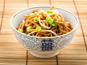 Chow Mien on a bowl