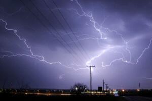 Sky with lightning