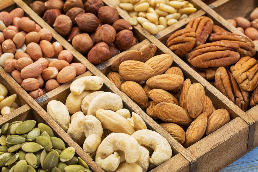 Sets of nuts and seeds