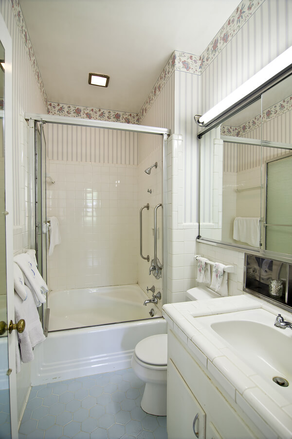 White themed bathroom