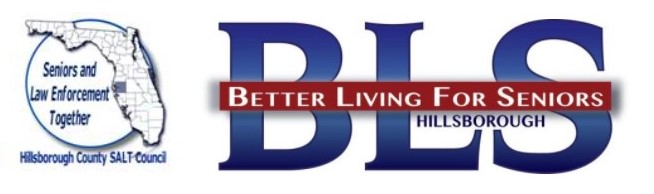 CSA logo, BLS logo and Seniors and Law Enforcement Together logo